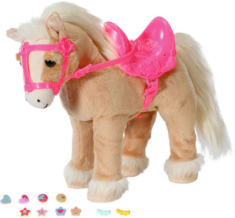Baby Born Plüschfigur »My Cute Horse«, mit Sattel, Zaumzeug und Pins