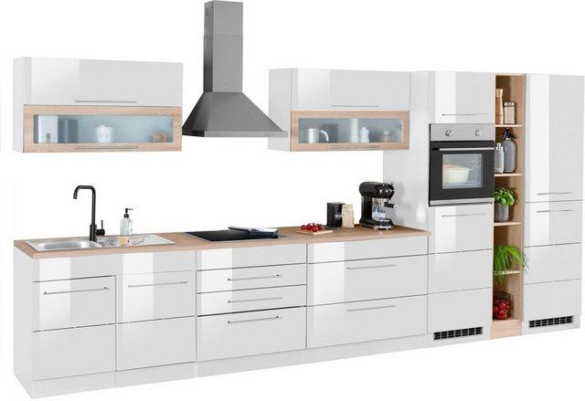 Einbauküchen - HELD MÖBEL Küchenzeile »Wien«, mit E Geräten, Breite 430 cm  - Onlineshop OTTO
