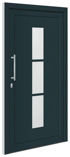 RORO TÜREN & FENSTER Aluminium-Haustür »Otto 5«, BxH: 110x210 cm, anthrazit/weiß, ohne Griff