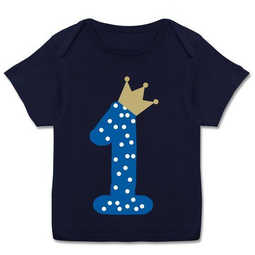 Shirtracer T-Shirt »1. Geburtstag Krone Junge Erster - Baby T-Shirt - Strampler & Bodies« Geburtstag Baby