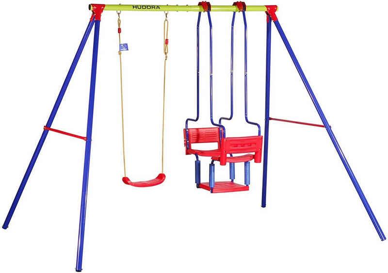 Hudora Doppelschaukel »Schaukelgestell 64011/01, HD 700«, BxLxH: 245x205x206 cm, für bis zu 3 Kindern