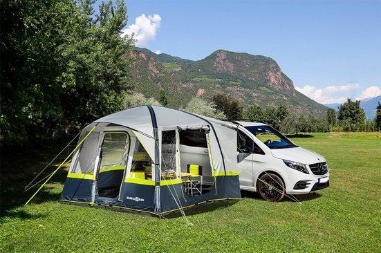 BRUNNER aufblasbares Zelt »Trouper«, Personen: 4, eingenähter Zeltboden, Panoramafenster