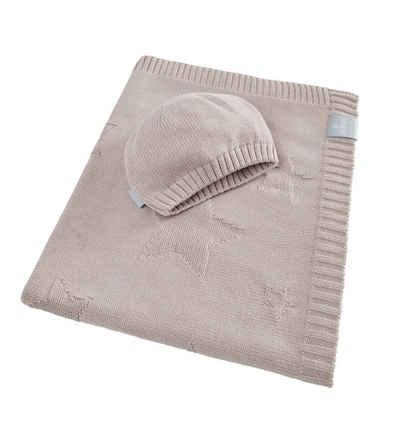 Babydecke »Sterne - Strickdecke 90 x 70 cm 100% Bio-Baumwolle«, SEI Design, in hübscher Geschenk-Verpackung