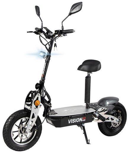 eFlux E-Scooter »Vision X2 Elektroroller«, 1500 W, 45 km/h, E-Scooter mit Straßenzulassung