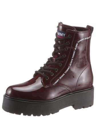 TOMMY JEANS TOMMY Džinsai »PATENT LACE UP BOOT« Pl...