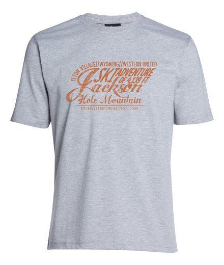 AHORN SPORTSWEAR T-Shirt »JACKSON ADVENTURE_ROOIBOS« mit stylischem Frontprint