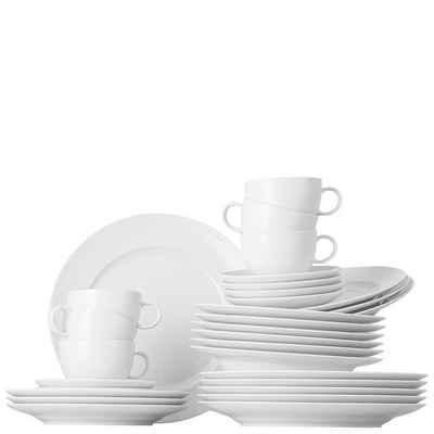 Thomas Porzellan Geschirr-Set, Kombiservice »Sunny Day ROK-weiß Set 30-tlg.« (30-tlg), Porzellan