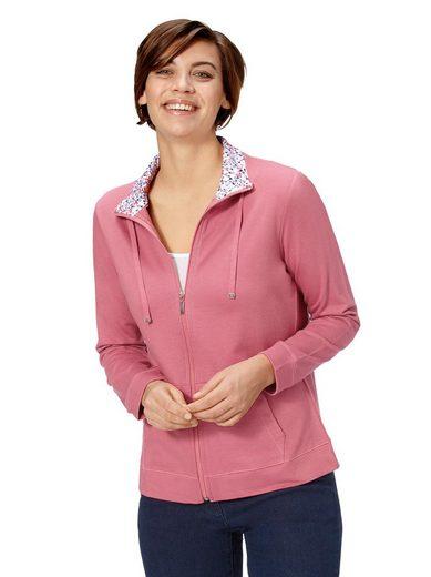 Classic Basics Shirtjacke mit Millefleurs-Blende