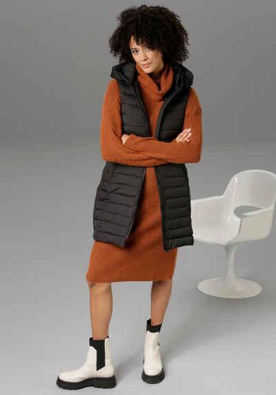 Aniston CASUAL Steppweste mit verstellbarer Kapuze - NEUE KOLLEKTION