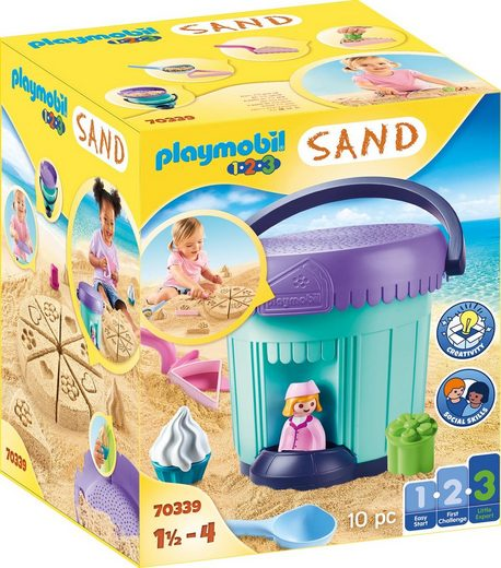 Playmobil® Konstruktions-Spielset »Kreativset Sandbäckerei (70339), Playmobil 123 - Sand«, Made in Europe