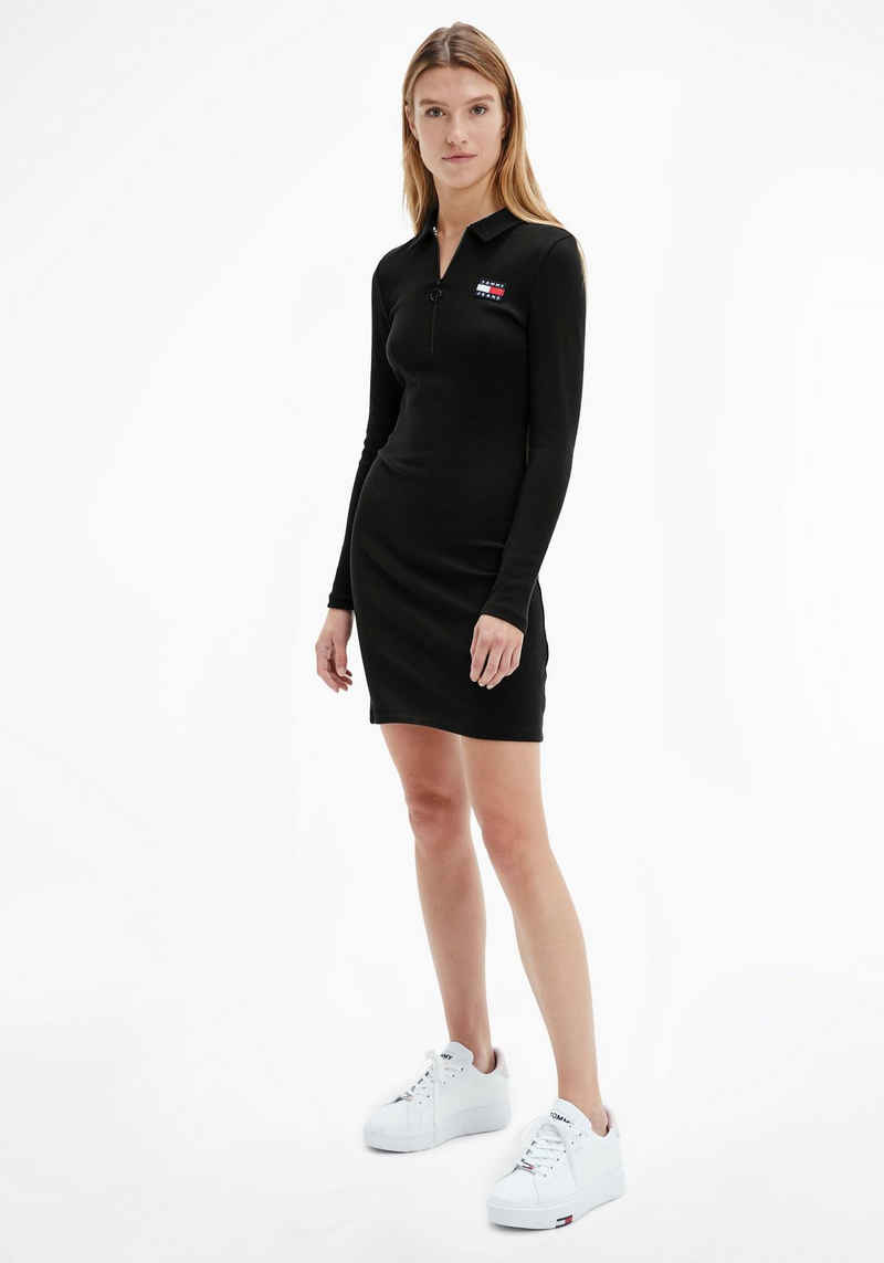 Tommy Jeans Polokleid »TJW LS BADGE POLO DRESS« mitTommy Jeans Logo-Badge