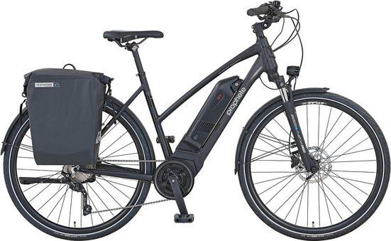 Prophete E-Bike »Prophete PowerEdition Damen«, 10 Gang Shimano Deore XT Schaltwerk, Kettenschaltung, Mittelmotor 250 W
