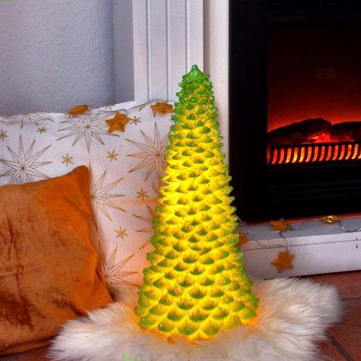 MARELIDA LED Baum »LED Tannenbaum mit Pailletten - LED beleuchtet - H. 45cm - Batteriebetrieb - grün«