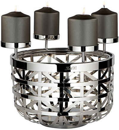 Fink Kerzenleuchter »JORIS« (1 Stück), 4-flammig, Durchmesser 30,5 cm, Adventsleuchter