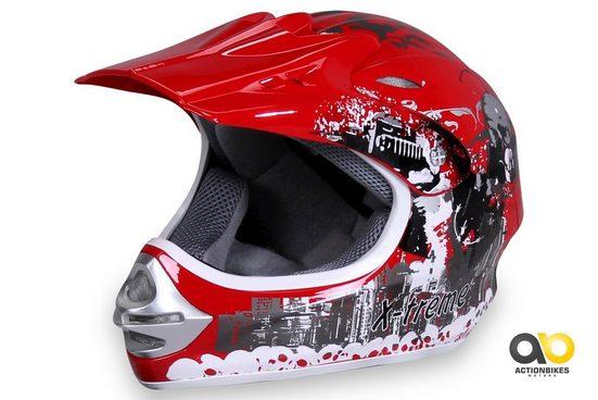 Actionbikes Motors Motocrosshelm »X-treme Rot«