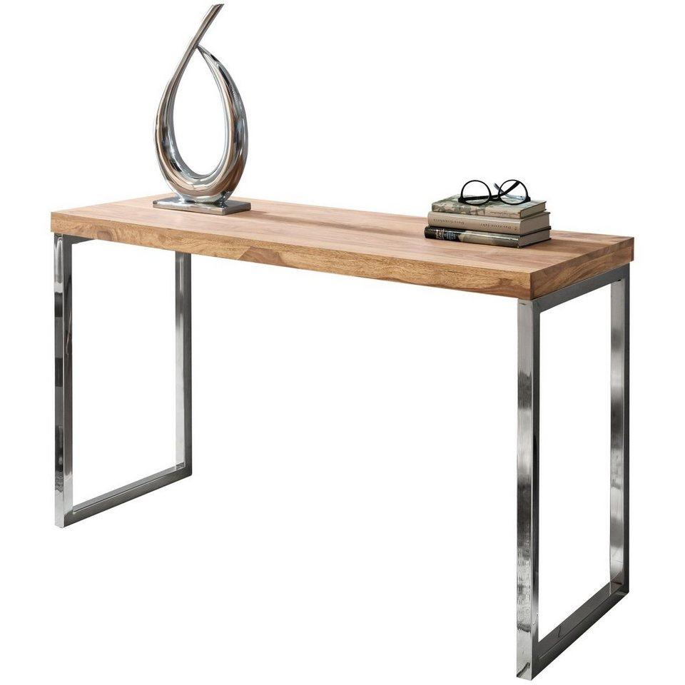 FineBuy Konsolentisch KALKUTTA 120 x 50 x 84 cm Schreibtisch Konsole Anrichte