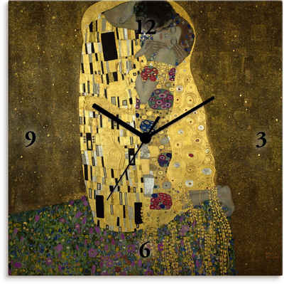 Artland Wanduhr »Der Kuß« (lautlos, ohne Tickgeräusche, nicht tickend, geräuschlos - wählbar: Funkuhr o. Quarzuhr, moderne Uhr für Wohnzimmer, Küche etc. - Stil: modern)