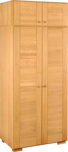 BioKinder - Das gesunde Kinderzimmer Kleiderschrank »Kai« 2-türig mit Aufsatz, Inkl. flexibler Kleiderstange, 4 flexiblen und 1 festem Einlegeboden