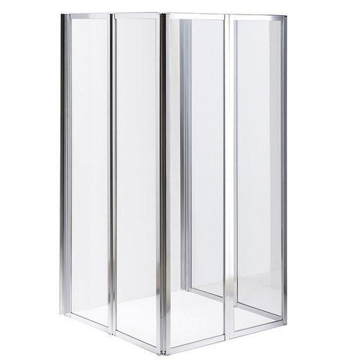Mucola Duschwand »2x 3teilige Glas Duschabtrennung Badewannenaufsatz Badewannenfaltwand Duschwand«, Sicherheitsglas