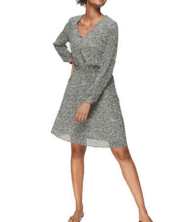 Ichi Longbluse »ICHI Mini-Kleid leichtes Damen Blusen-Kleid mit Animal-Print Sommer-Kleid Grün«
