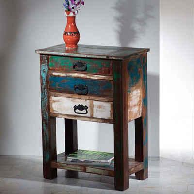 Pharao24 Telefontisch »Jacinta«, aus Massivholz, mit Stauraum