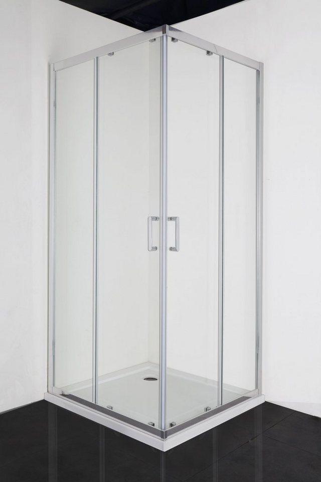 Eckdusche »ELITE«, Duschkabine mit Anti-Kalk Beschichtung, BxT: 90 x 90 cm  online kaufen   OTTO