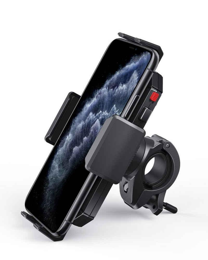 AUKEY Fahrradhalter »HD-C51«, Handyhalterung Fahrrad, Handyhalter Motorrad Universal, 360 Drehung Outdoor Fahrrad Halter für Smartphone