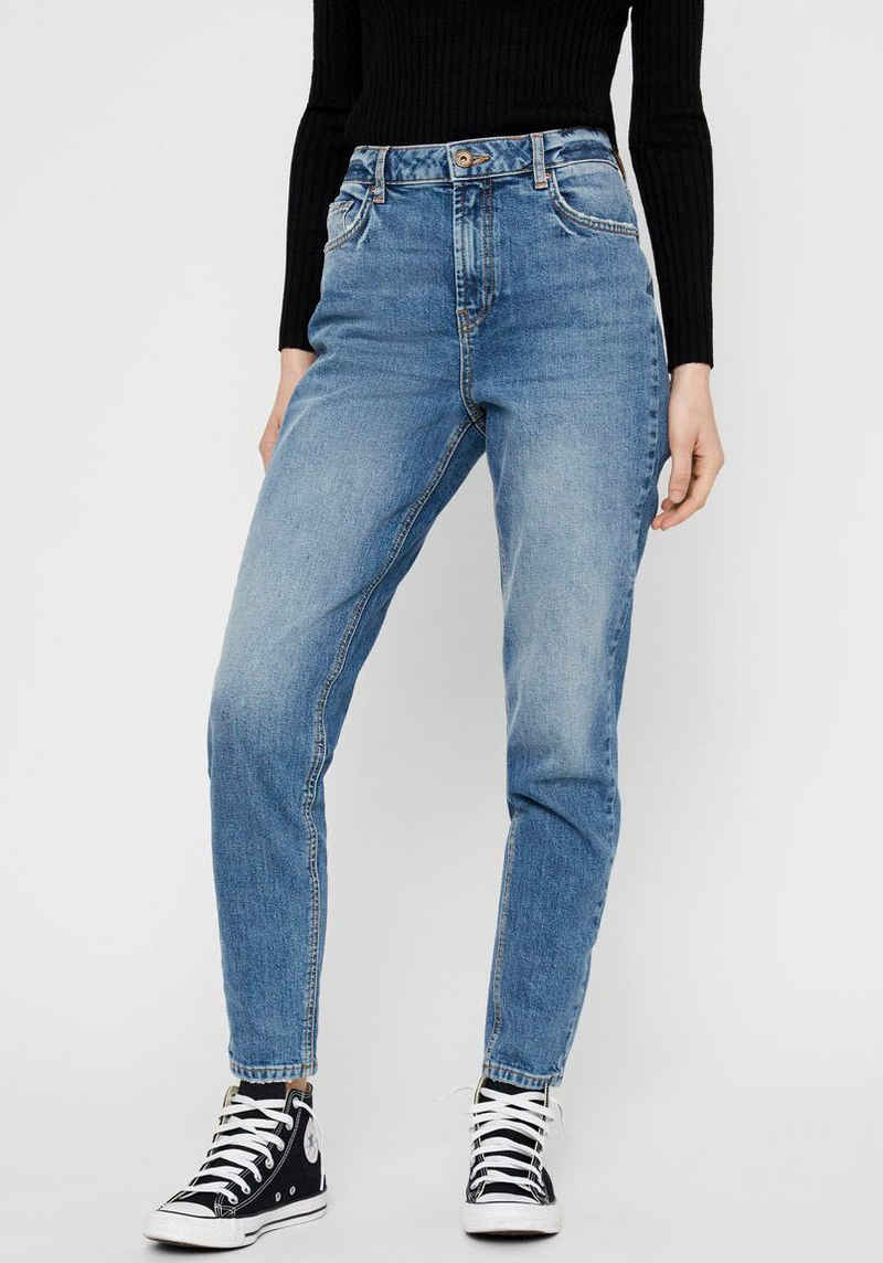 pieces Mom-Jeans »PCLEAH« Leichter Stretch