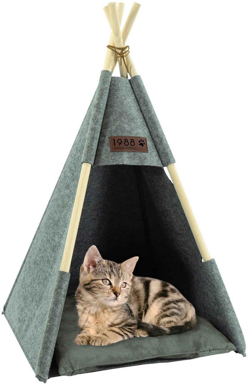 NOOR LIVING Katzenzelt »Tipi«, BxTxH: 42x44x80 cm