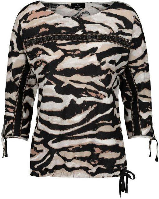 Monari 3/4 Arm-Pullover im Animal - Look mit Tigerprint und Glitzer - Steinen   Bekleidung > Pullover > 3/4 Arm-Pullover   Monari