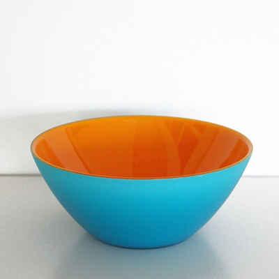 Guzzini Servierschale »guzzini Schale MY FUSION orange-türkis«, Acrylglas, (Stück)