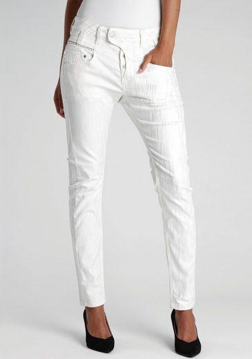 GANG Skinny-fit-Jeans »MARGE-GA« mit silbernen Glitzerfäden und silbernen Details an den Taschen
