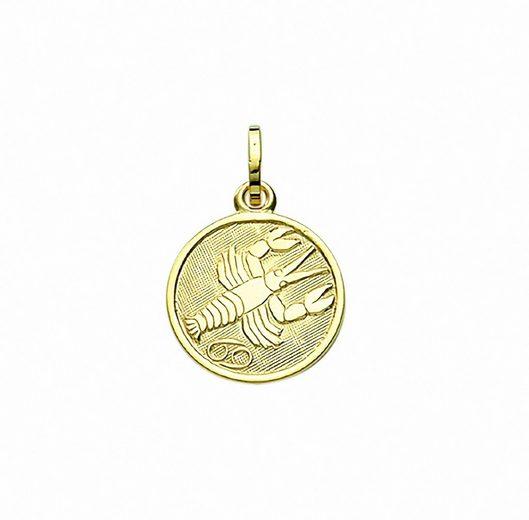Adelia´s Anhänger Set »333 Gold Sternzeichen Anhänger Krebs Ø 11,8 mm«, 333 Gold Goldschmuck für Damen & Herren