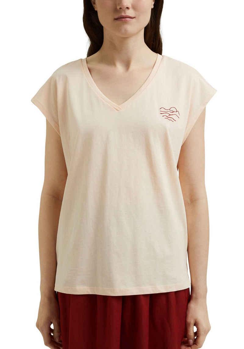 edc by Esprit T-Shirt mit kleinem Motiv