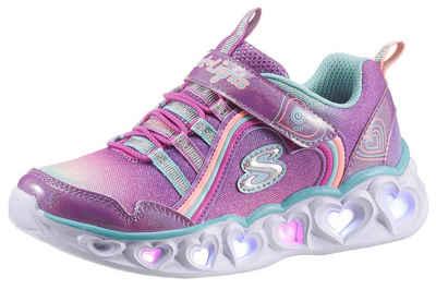 Skechers Kids »Blinkschuh HEART LIGHTS RAINBOW LUX« Sneaker mit Blinkfunktion zum Ein- & Ausschalten