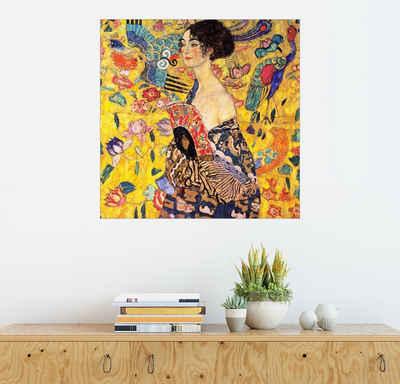 Posterlounge Wandbild, Dame mit Fächer