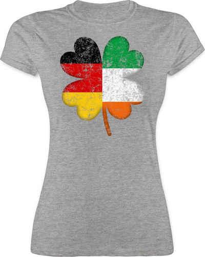 Shirtracer T-Shirt »Deutschland Irland Kleeblatt - St. Patricks Day - Damen Premium T-Shirt«