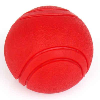 H-basics Handball »Hundeball 7cm – in Rot – Hunde Kauspielzeug aus Naturkautschuk in knalligem Rot – Wurfball Schwimmball Hüpfball«