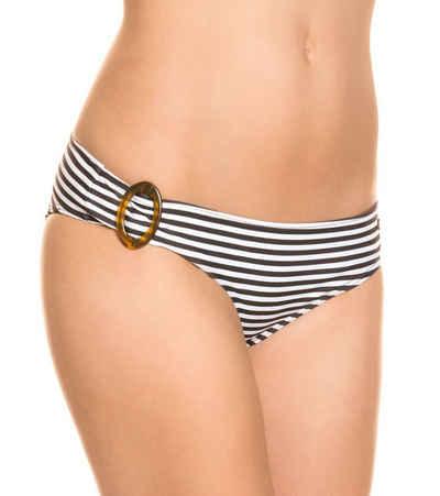 Protest Bikini-Hose »Protest Whitmore Bikini-Slip gestreifte Damen Badehose Bade-Höschen Schwarz/Weiß«