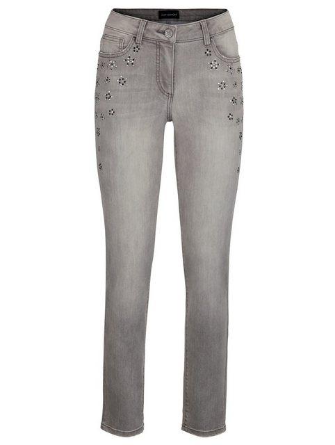 Hosen - Amy Vermont Slim fit Jeans mit Strasssteindekoration ›  - Onlineshop OTTO