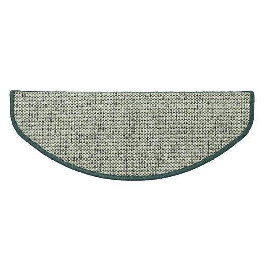 Stufenmatte »Haifa«, Kubus, Halbrund, Höhe 3.5 mm, Sisal-Optik