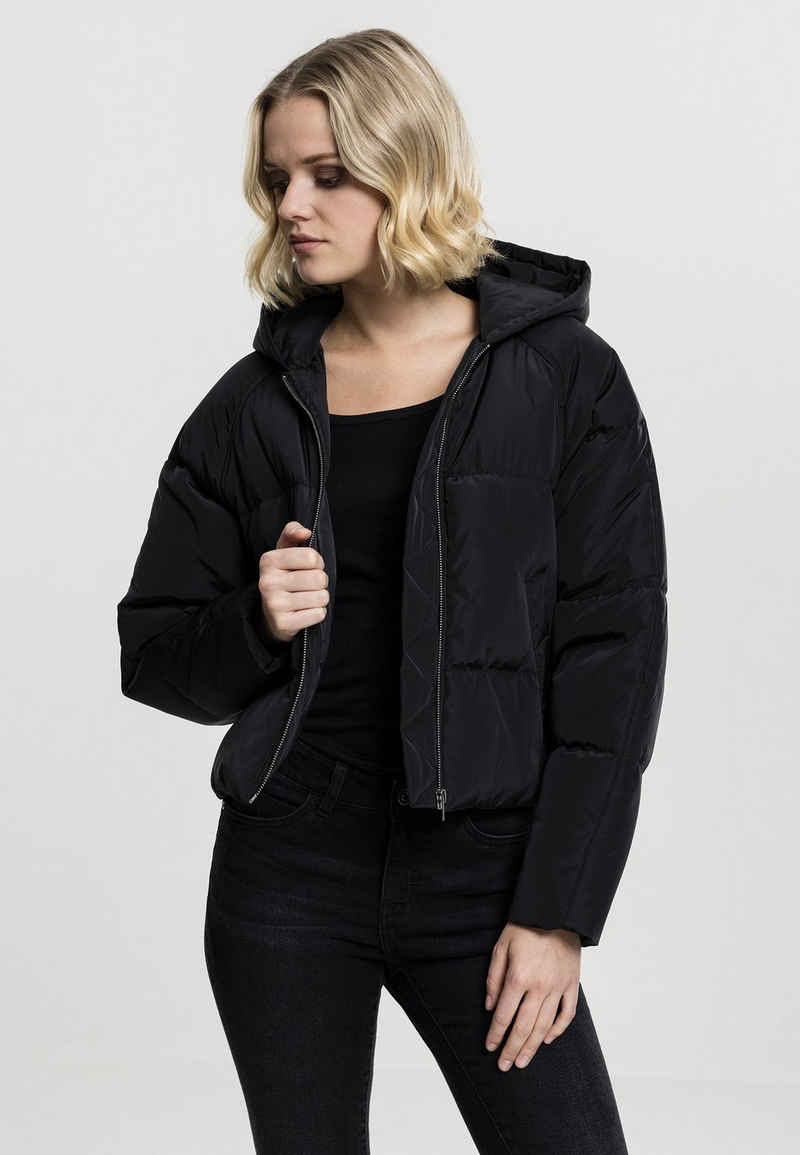URBAN CLASSICS Allwetterjacke »Ladies Hooded Oversized Puffer Jacket«