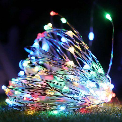 TOPMELON Lichterkette, 2M / 3M / 5M / 10M, Wasserdichte, Dekorative leichte Kette