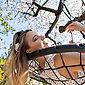 relaxdays Nestschaukel »Nestschaukel mit Netz 120 cm«, Bild 3