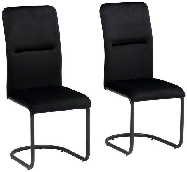 Stühle und Bänke - my home Freischwinger »Amabella« 2er Set, in zwei Bezugsqualitäten und verschiedenen Farbvarianten  - Onlineshop OTTO