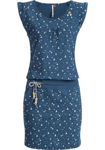 Ragwear Sommerkleid »Penelope« leichtes Baumwoll Kleid mit Print