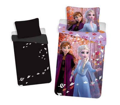 Bettwäsche »Die Eiskönigin Kinderbettwäsche«, Disney Frozen, im dunkel Leuchtend, 135-140x200 70x90 cm, 100% Baumwolle