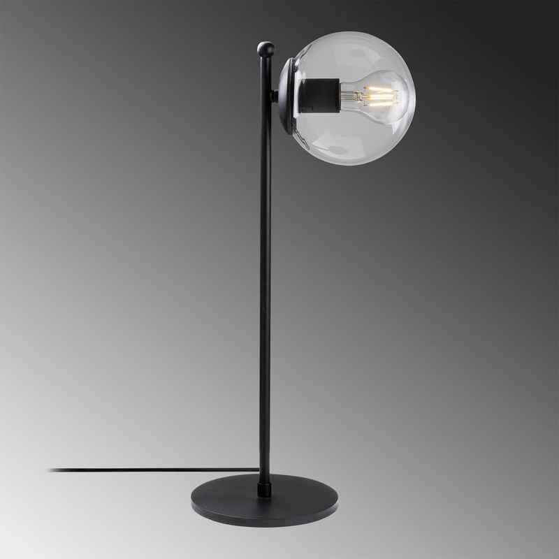 Gozos Tischleuchte »Gozos Tischlampe Tischlampe Glaskugel, Metall Design Beleuchtung Leuchte Lampe, Modern und Edel designt für Wohnzimmer, Schlafzimmer und Schreibtisch«