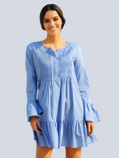 Alba Moda Strandkleid mit Biesen verziert