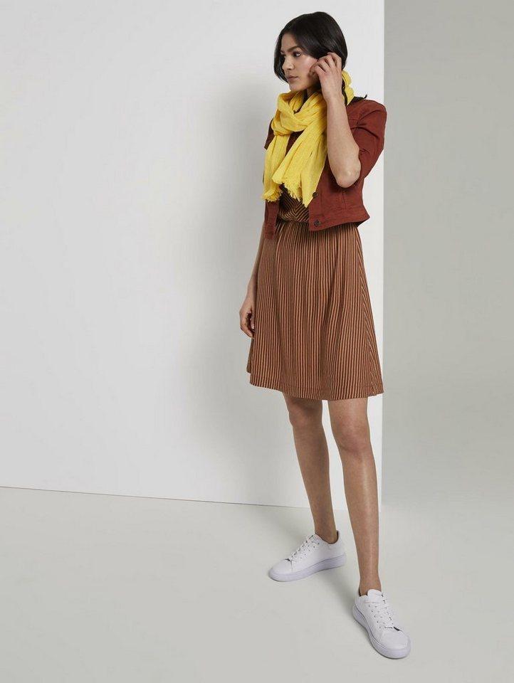 tom tailor -  Jerseykleid »Gestreiftes Jersey-Kleid mit breiter Schulterpartie«